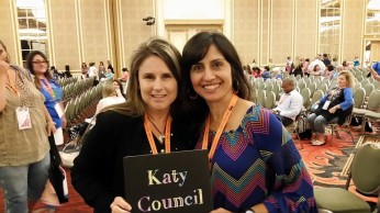 Katy Council Membership Chair Suzanne Foster and VP Cindy Cruz-Davis at Texas PTA Board Meeting