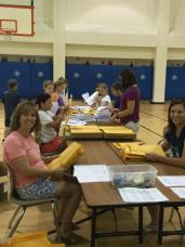1st Day Packet Stuffing - Hayes Elem. PTA