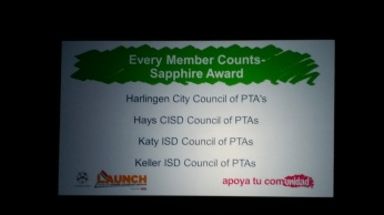 Council's Award because of our AWESOME local PTAs!!!