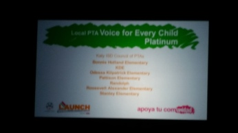 Voice for Every Child - Platinum recipients 100% or more of their student body is represented by a PTA membership