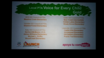 Voice for Every Child - Gold recipients 75% or more of their student population is represented by a PTA membership