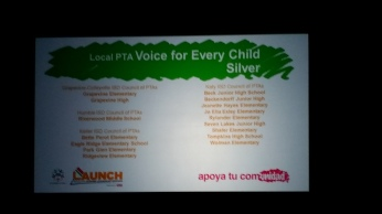 Voice for Every Child - Silver recipients 50% or more of their student population is represented by a PTA membership