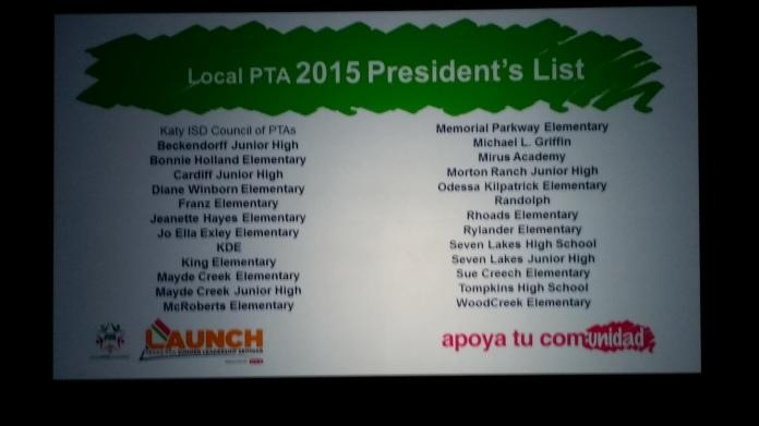 President's List recipients