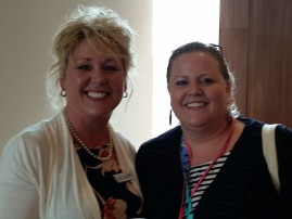 Jeannie Griffith, Katy ISD Council President, and Kelley O'Brien, Nottingham Country PTA President